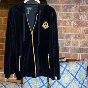 Ralph Lauren hoodie black velvet